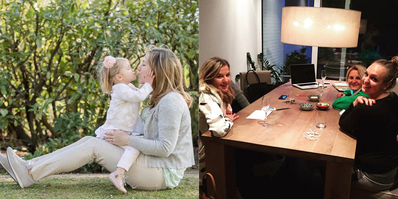 Mama en dochter wat lief
