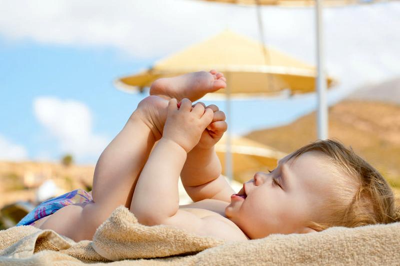Mag een baby in de zon