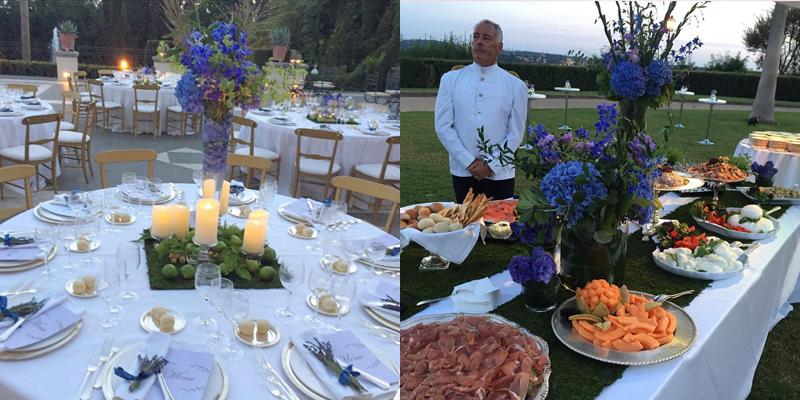 Bruiloft maaltijd