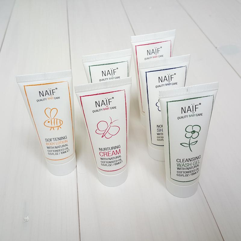 NAIF samples voor 4-95 en een voucher ter waarde van 4-95 op je volgende bestelling