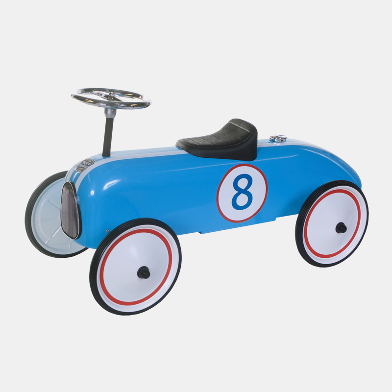 Win een Retro Roller loopauto in blauw of roze 2