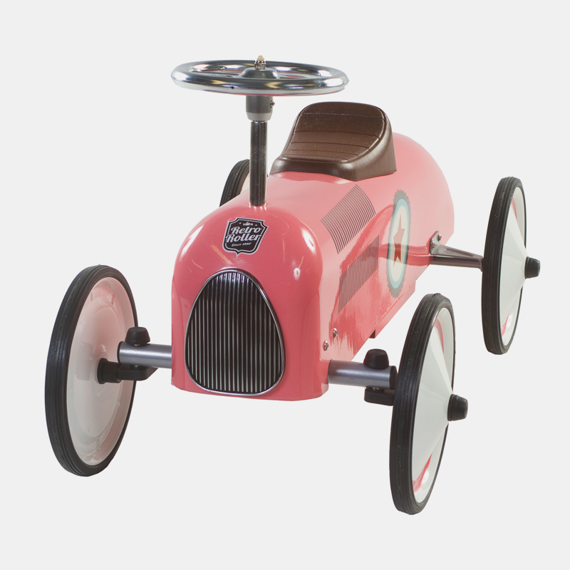 Win een Retro Roller loopauto in blauw of roze 3