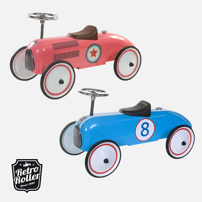 Win een Retro Roller loopauto in blauw of roze 4