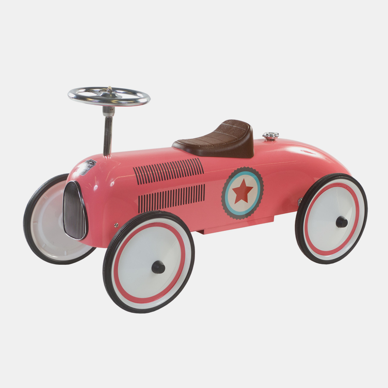 Win een Retro Roller loopauto in blauw of roze