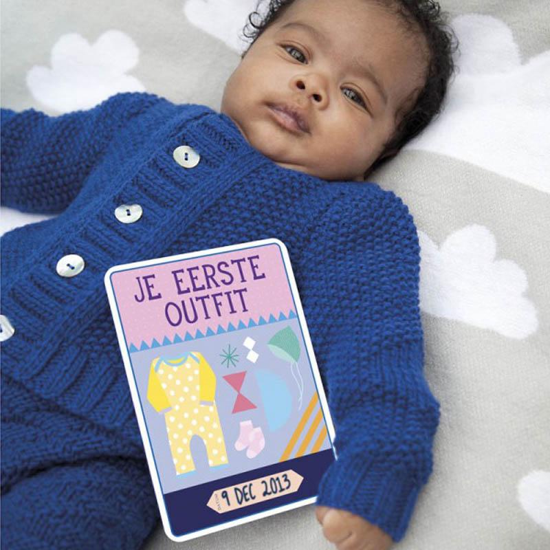 Milestone kaarten baby