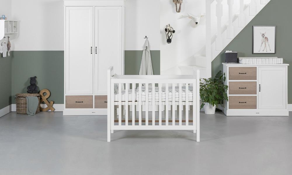 Voor de vintage liefhebbers mintgroene babykamer
