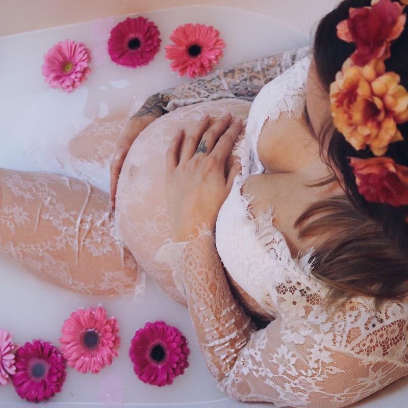 mama carmen diy melkbad zwanger