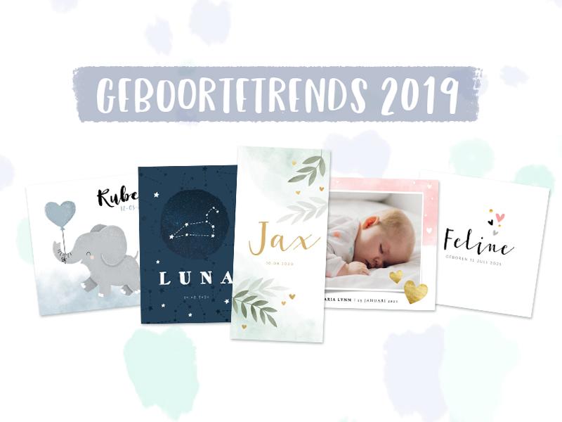 geboortekaartjes kaartje2go trends 2019