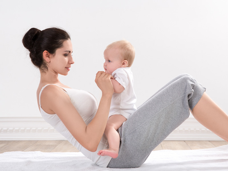 Na de zwangerschap strak buikje