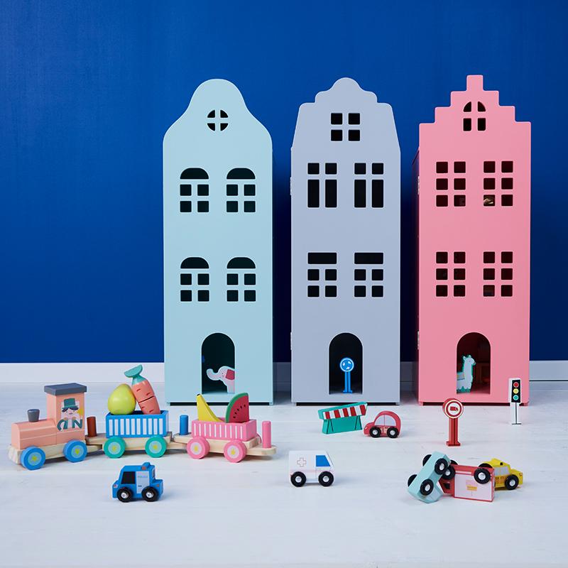 Hema houten speelgoed 2019 grachtenhuis