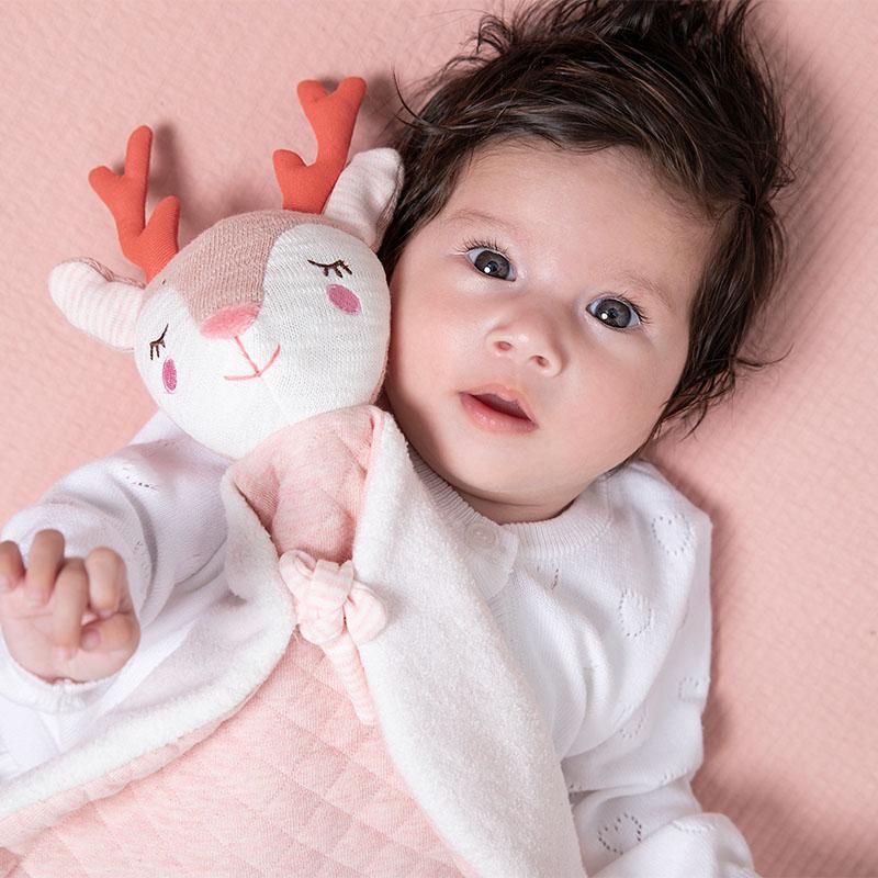 tiamo baby dreamy deer en balletmuizen knuffeldoekje