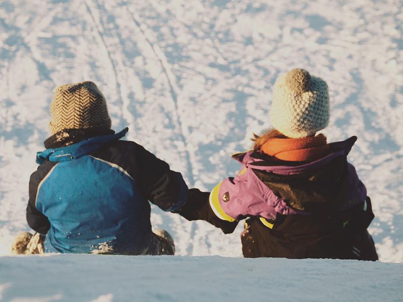 Hele gezin winterkamperen