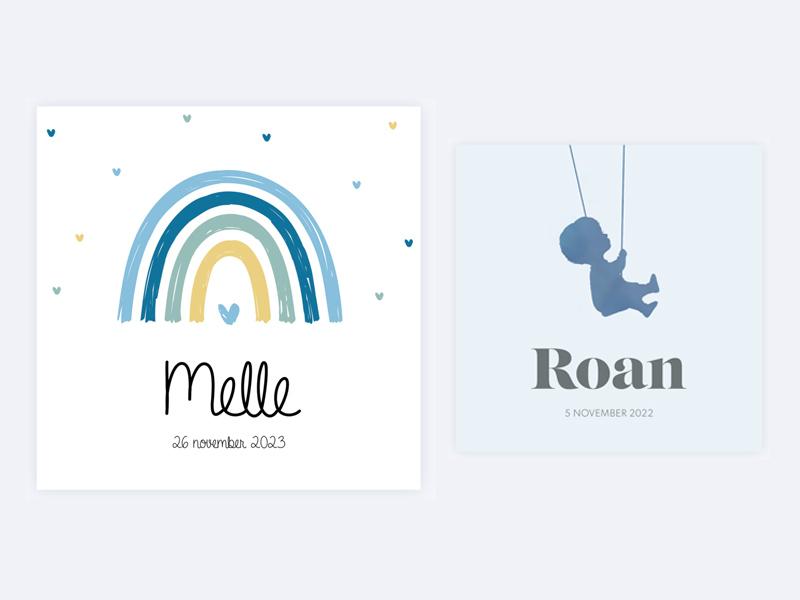 Mooie geboortekaartjes voor jongens