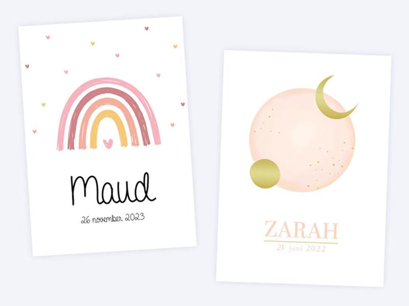 Geboortekaartjes meisjes